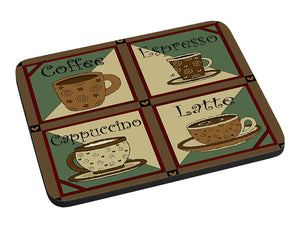 Coffee Squares Mouse Pad