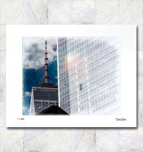 Freedom Tower Rising Limited Edition Fine Art Print By Gina Brake