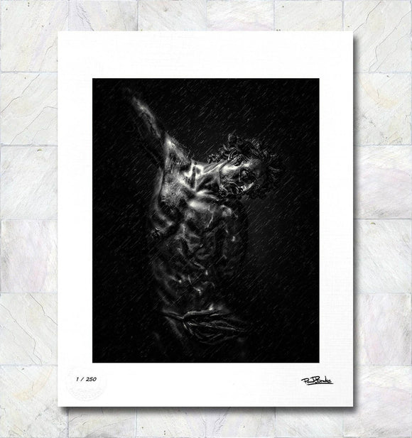 Christ Rain Limited Edition Fine Art Print By Paul Brake