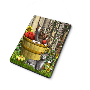 Cats in Apple Basket Mouse Pad