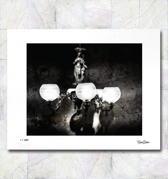 Chandelier in Grunge Limited Edition Signed Fine Art Print By Gina Brake