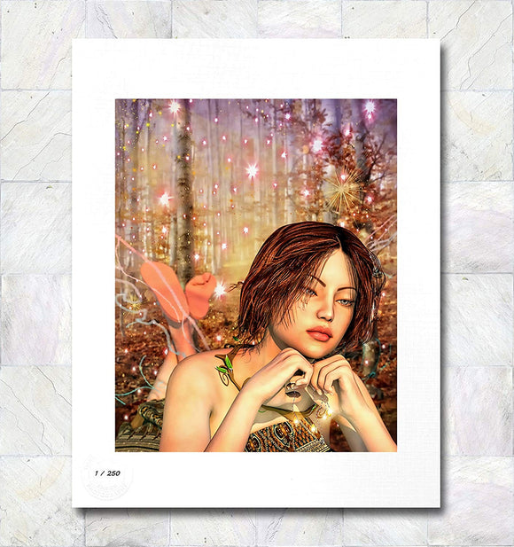 Autumn Jewel Fairy Limited Edition Signed Fine Art Print By Gina Brake