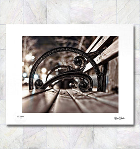 Benched II Limited Edition Signed Fine Art Print By Gina Brake