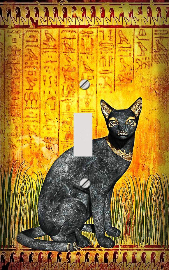 Egyptian Cat Switch Plate Cover