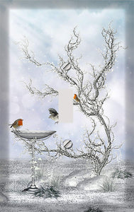 Magical Winter Birdbath Switch Plate Cover