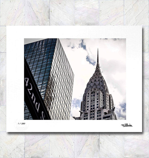 42nd Street New York City Limited Edition Signed Fine Art Print By Paul Brake