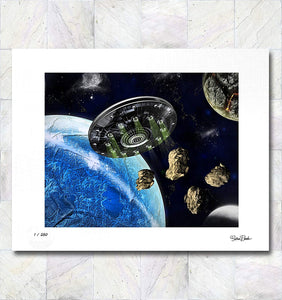 Asteroid Smash Limited Edition Signed Fine Art Print By Gina Brake