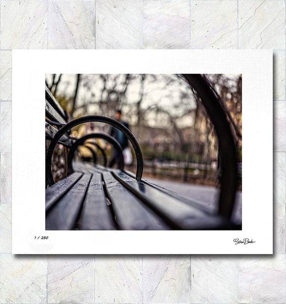 Benched Limited Edition Signed Fine Art Print By Gina Brake
