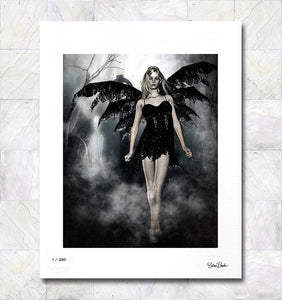 Angel of Death Limited Edition Signed Fine Art Print By Gina Brake