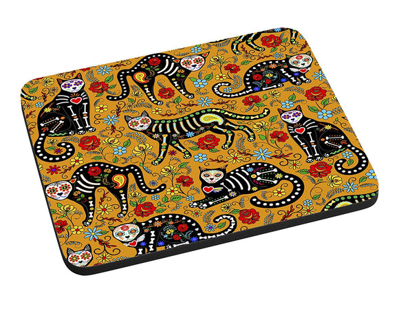 Day of the Dead Cats Mouse Pad