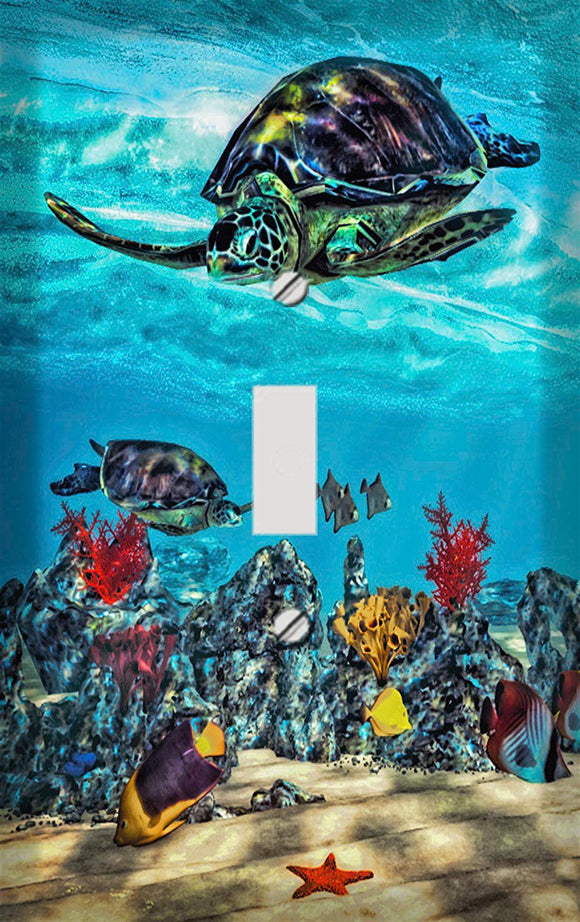 Sea Turtle Reef Switch Plate Cover