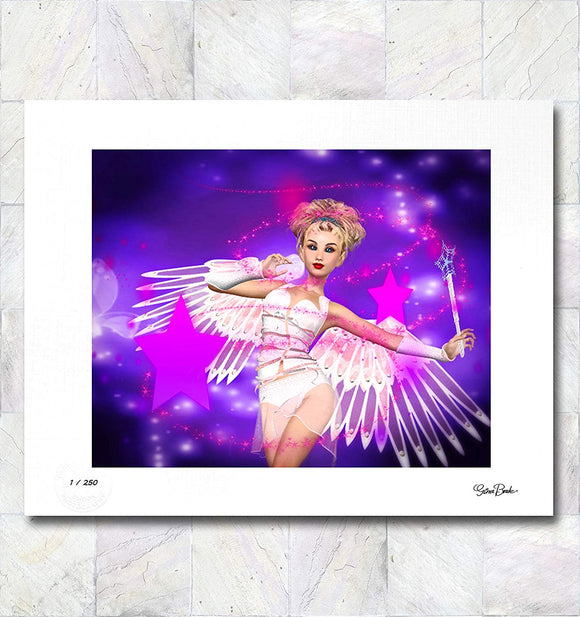 Angel of Magic Limited Edition Signed Fine Art Print By Gina Brake