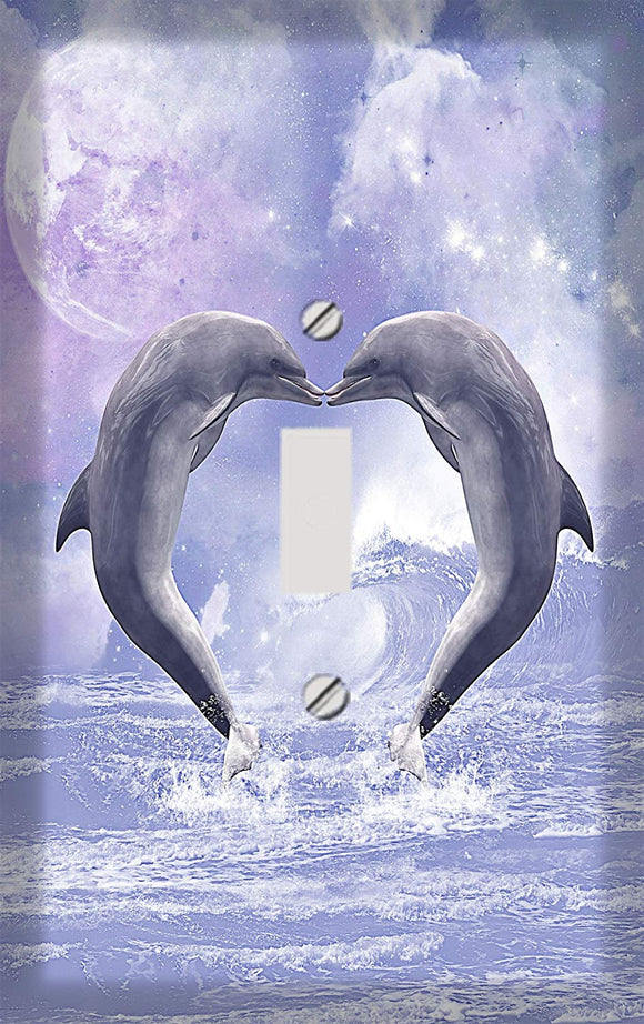 Dolphin Love Switch Plate Cover