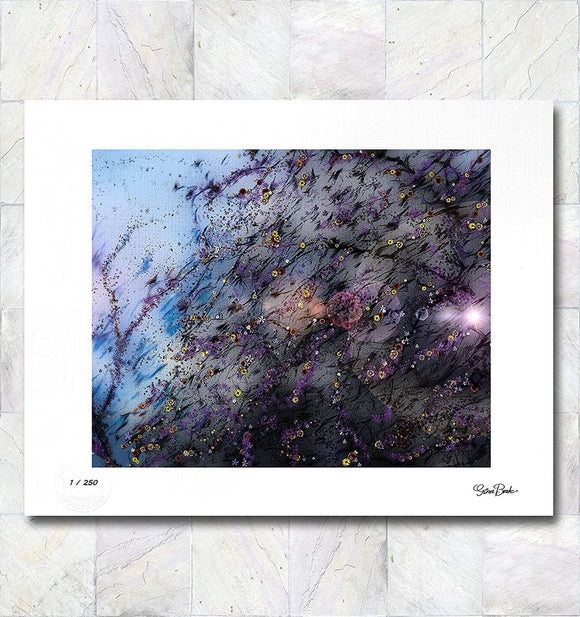 Brilliant Blossoms Limited Edition Signed Fine Art Print By Gina Brake