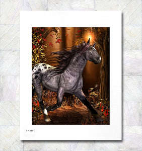 Autumn Horse Limited Edition Signed Fine Art Print By Gina Brake