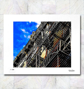 Fire Escapes Limited Edition Signed Fine Art Print By Gina Brake