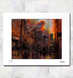 Central Park Rust Limited Edition Signed Fine Art Print By Gina Brake
