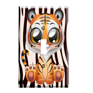 Big Eyes Little Tiger Peeper Switch plate
