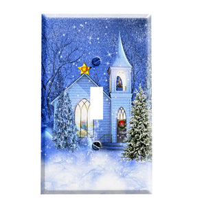The Christmas Church Switchplate - Switch Plate Cover - Christmas Decorations