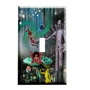 Fantasy Forest Switch Plate Cover - Enchanted Home Decor