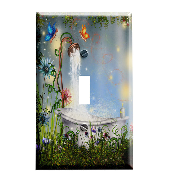 Garden Bathroom Switch Plate Cover