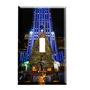 Rockefeller Center Christmas Tree New York City  Switch Plate Cover