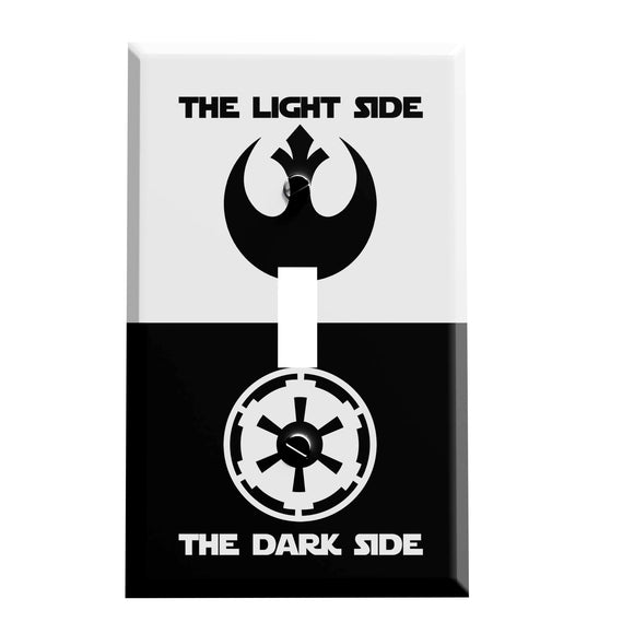 Light Dark Side Force Switch Plate - Star Wars Inspired Decor