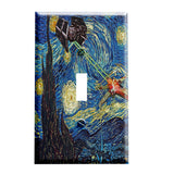 Starry Night Wars Switch Plate - Star Wars Inspired Decor