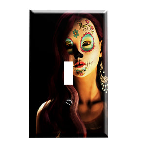 Sugar Skull Fantasy II Switchplate - Switch Plate Cover