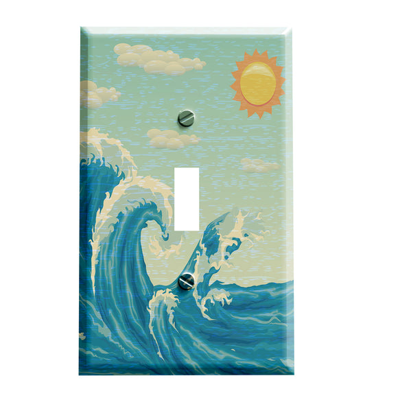 Summer Wave Switchplate - Switch Plate Cover