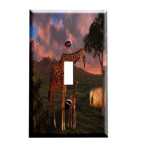 Sunrise Giraffes Switchplate - Switch Plate Cover