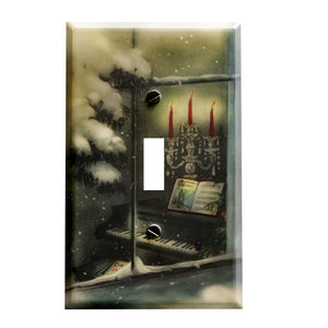 Vintage Look Silent Night Switchplate - Switch Plate Cover