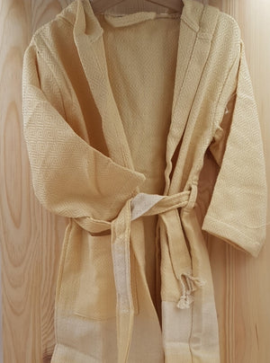 GARAGE SALE! Contemporary Series Kids Bathrobes - 100% Natural Cotton
