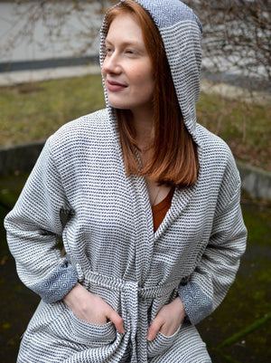 Plus Size Nordic Series 100% Cotton Bathrobes