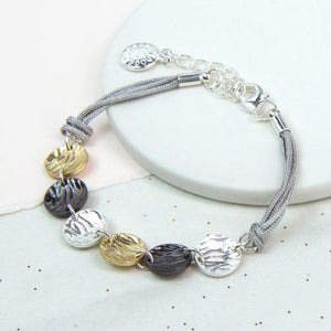 Mixed disc bracelet