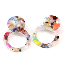 Load image into Gallery viewer, multicoloured resin earrings