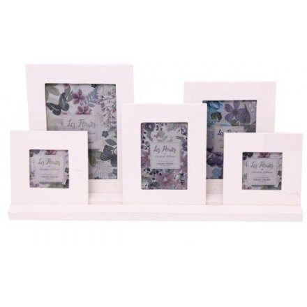 set of five frames on stand
