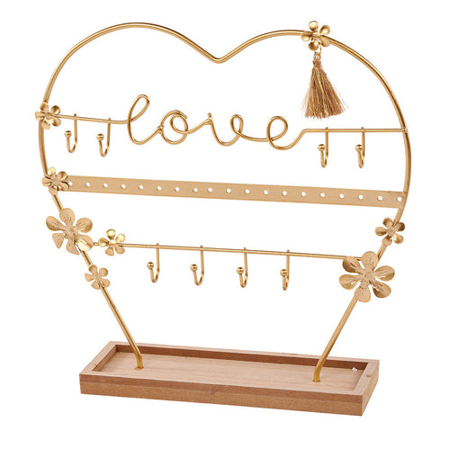 love jewellery stand gold