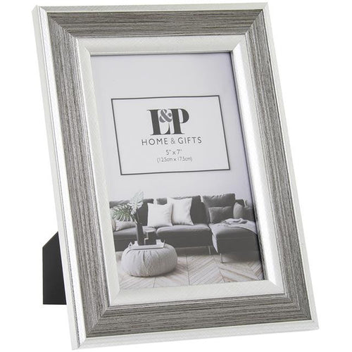 silver duo 5x7 photo frame