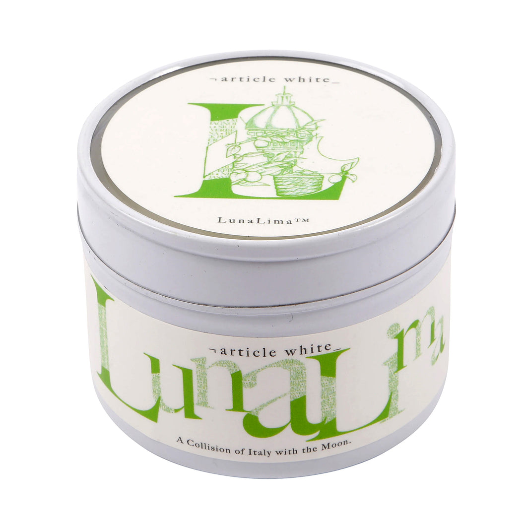 luna lime candle tin