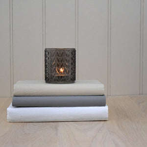 taupe glass tealight holder design 1