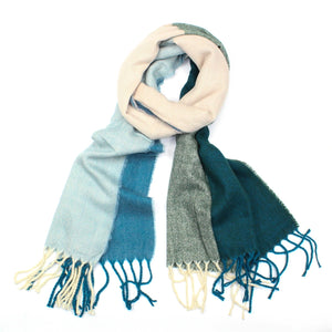 teal winter scarf