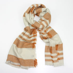 gold stripe scarf