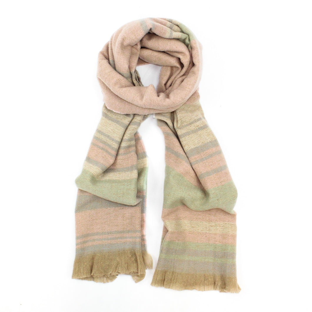 pastel stripe winter scarf