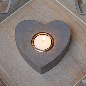 large heart tea light holder
