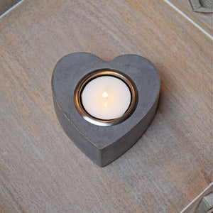 small heart tealight holder
