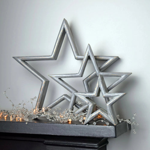 mantel stars grey
