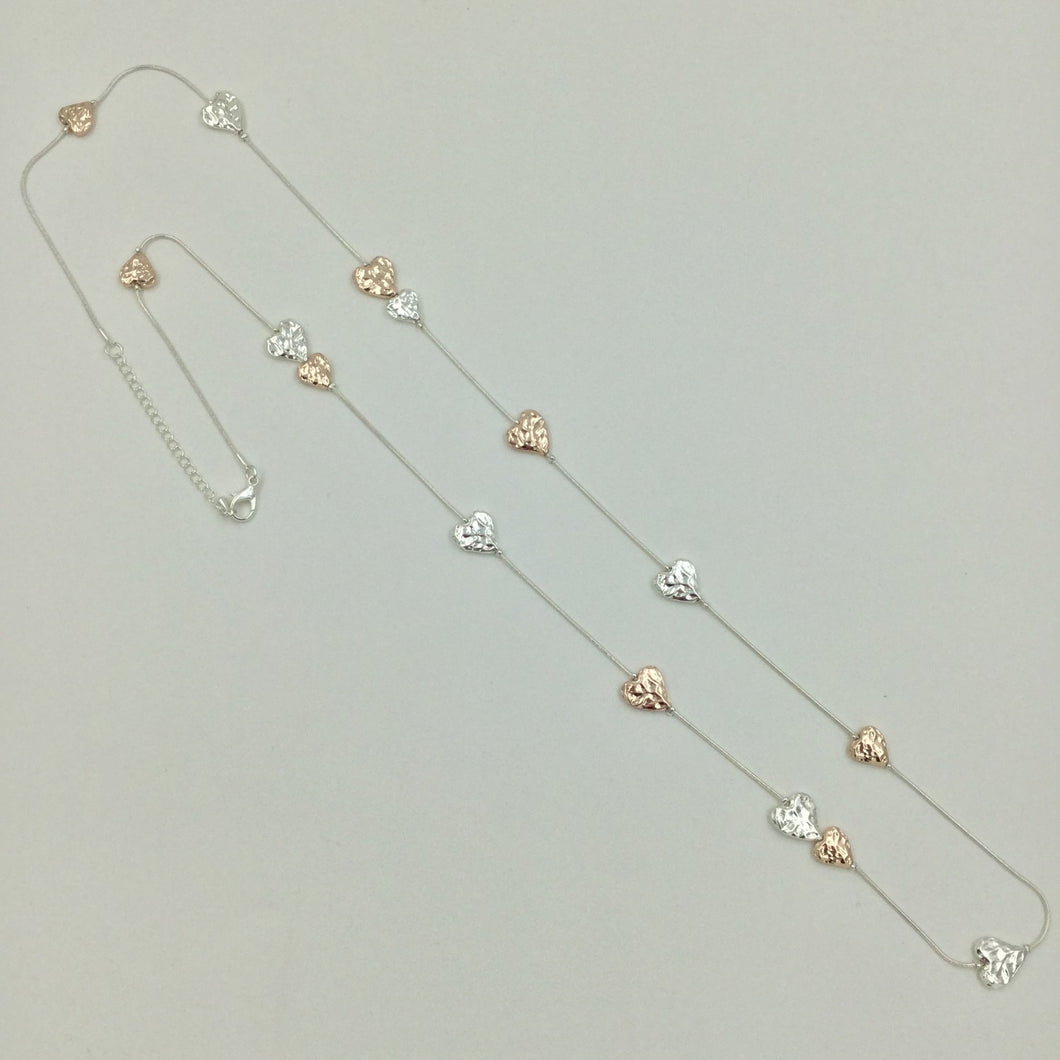 hearts long necklace