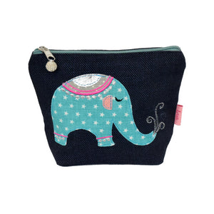 navy elephant cosmetic bag