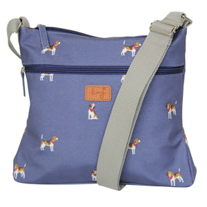 navy beagle cross body handbag